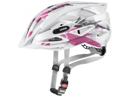 Velo ķivere Uvex Air Wing white pink