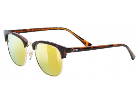 Brilles Uvex lgl 37 pola havanna gold mirror yellow
