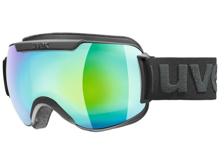 Brilles Uvex Downhill 2000 FM black mat / green-clear