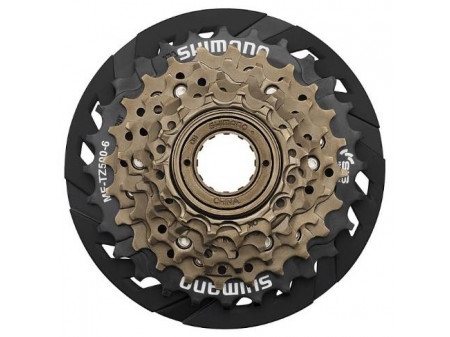 Aizmugurējie zobratu blok Shimano MF-TZ500 6-speed with guard (threaded)