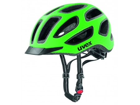 Velo ķivere Uvex City e neon green-black mat