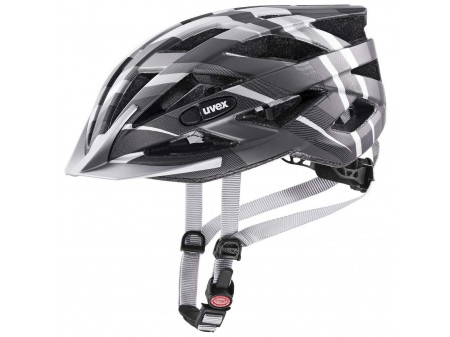 Velo ķivere Uvex Air wing cc black-silver mat