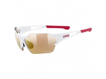 Brilles Uvex Sportstyle 803 race small CV Variomatic white mat red / litemirror red