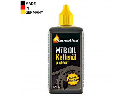 Ķēdes eļļa Hanseline MTB OIL with graphite 125ml