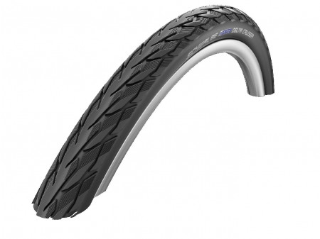 "Riepa 28"" Schwalbe Delta Cruiser Plus HS 431, Active Wired 37-622 Black-Reflex"