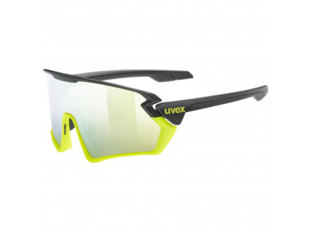Brilles Uvex Sportstyle 231 black-lime mat / mirror yellow