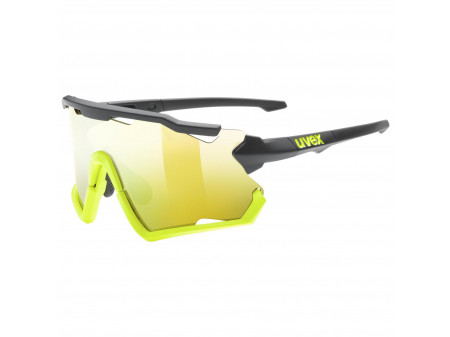 Brilles Uvex Sportstyle 228 black lime mat / mirror yellow