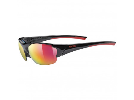 Brilles Uvex blaze III black red / mirror red