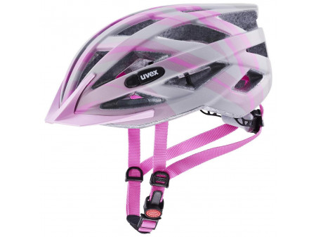 Velo ķivere Uvex Air wing cc grey-rose mat