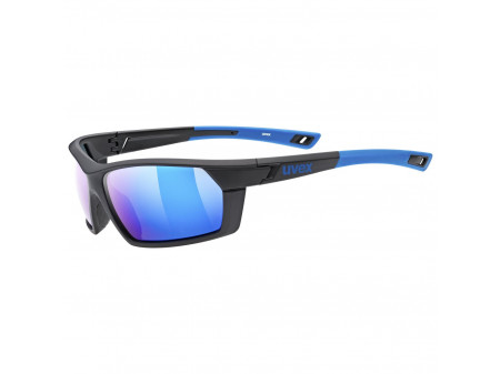 Brilles Uvex Sportstyle 225 Polarized black blue mat / mirror blue