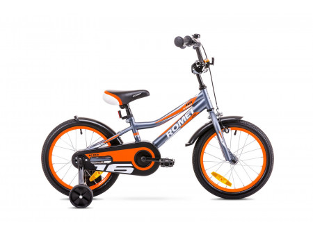 "Velosipēds Romet Tom 16"" 2019 graphite-orange"