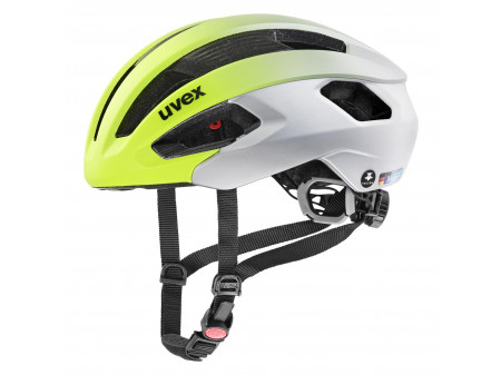 Velo ķivere Uvex Rise cc Tocsen neon yellow-silver mat
