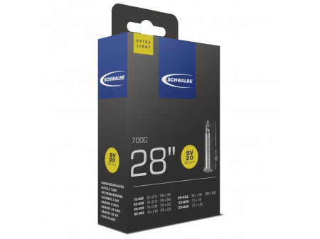 "Kamera 28/27"" Schwalbe SV20 ExtraLight Long (18/25-622)"