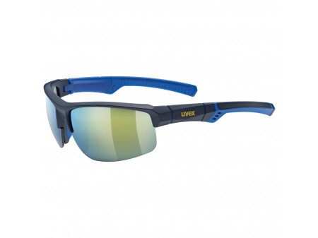 Brilles Uvex Sportstyle 226 blue mat / mirror yellow
