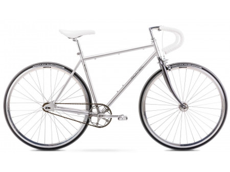 Velosipēds Romet Fixed Gear 2021 silver-anthracite