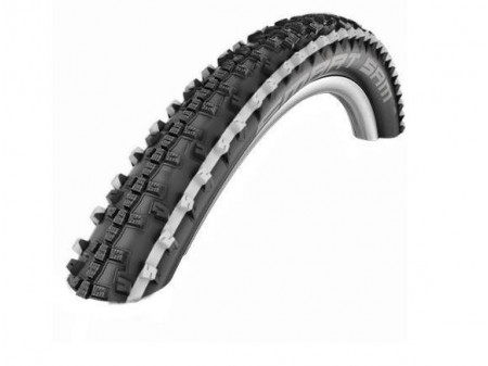 "Riepa 26"" Schwalbe Smart Sam HS 476 Perf. Wired 57-559 White Stripes"