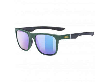 Brilles Uvex lgl 42 green black mat / mirror green