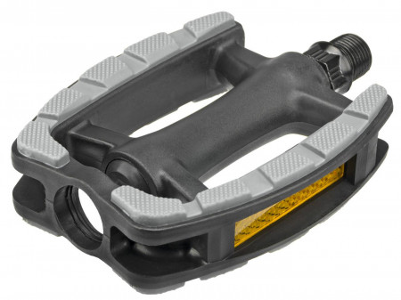 Pedāļi Azimut Trekking plastic Antislip with ZU bearings and reflectros (1011)