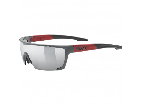 Brilles Uvex Sportstyle 707 grey mat red / mirror silver