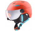 Velo ķivere Uvex Junior visor pro orange-petrol met mat