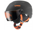 Velo ķivere Uvex Junior visor pro black-orange mat