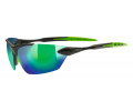 Brilles Uvex Sportstyle 203 black mat green