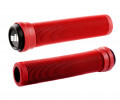 Stūres rokturi ODI Soft Longneck BMX Flangless 134mm Bright Red