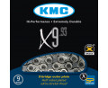3. Ķēde KMC X9 Silver/Grey 9-speed 114-links